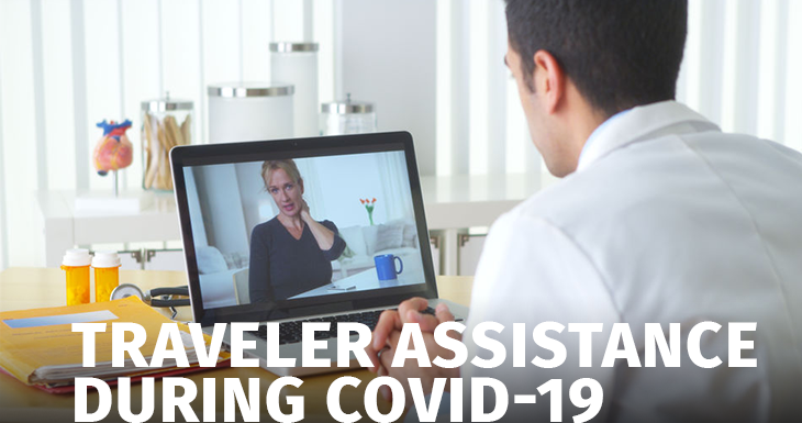 Traveler assistance during the COVID-19 pandemic